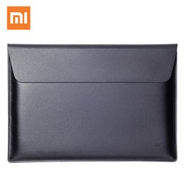 $enCountryForm.capitalKeyWord Australia - Original Xiaomi air 12.5 13.3 inch Laptop Sleeve bags PU Leather case for Macbook Air pro 11 12 new Retina A1932 notebook