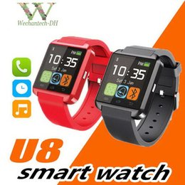 smartwatch u8 smart watch NZ - SmartWatch U8 Bluetooth U8 Smart Watch For IOS IPhone IPhone 4 5S 6 Samsung S4 Note 3 HTC Android Windows Ios Phone Smart Bracelet