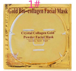 Skin Facial Products Australia - Gold Bio Collagen Facial Mask Face Mask Crystal Gold Powder Collagen Facial Mask Sheets Moisturizing Beauty Skin Care Products