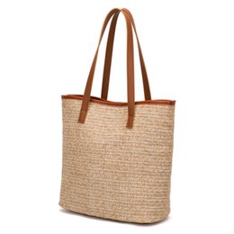 korea hand bag 2019 - Straw Bag Ins 2019 South Korea Summer New Hand-held Shopping Bag Woven Woman Single Shoulder Super High-capacity discoun