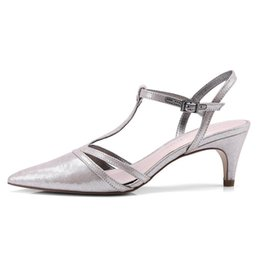 $enCountryForm.capitalKeyWord Australia - Silver Women Party Sandals 6 CM High Heels Pointed-toe Sexy Ladies Buckle Pumps Summer Dress Shoes Box Packing 88-373