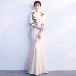 $enCountryForm.capitalKeyWord Australia - Fashion Wedding Party Fishtail Cheongsam Oriental Evening Dress Sexy Long Chinese Style Women Elegant Qipao Vestidos S-3XL