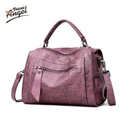 Big Ladies Handbags Australia - bag Oil wax 's Leather Handbags Luxury Lady Hand Bags With Purse Pocket Women messenger bag Big Tote Sac