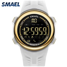 $enCountryForm.capitalKeyWord Australia - SMAEL Man Digital Waterproof Cool Wristwatches Black White Gold Electronic Watches for Male Famous Luxury Smart Bluetooth Sport Watch