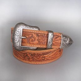 Western coWboy belts online shopping - Retail New Vintage Pin Belt Buckle Hand Crafted Cowboy Cowgirl Western Genuine Leather Belt
