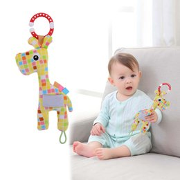 $enCountryForm.capitalKeyWord Australia - Rattles & Mobiles Newborn Baby Toys Boy Girl Cute Cotton Rattles Giraffe Hand Bells Baby Musical Shaking Toys Rattle Ring Plush Toy