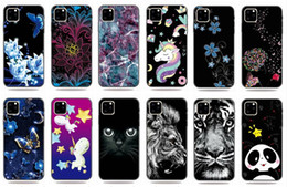 $enCountryForm.capitalKeyWord Australia - Soft TPU Case For Iphone 11 5.8 6.1 6.5 inch 2019 Galaxy Note 10 S10 M10 M20 Tiger Lion Panda Butterfly Flower Cartoon Marble Emboss Cover