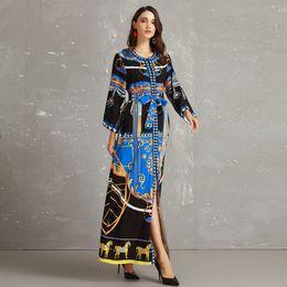 $enCountryForm.capitalKeyWord NZ - Palace Style Luxury Women Long Dresses Spring Party Formal Vogue Classical Printed Dress Notre-Dame de Paris