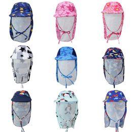 $enCountryForm.capitalKeyWord Australia - 2019 Summer Kids Hats Ultraviolet-proof Cartoon Bucket Hat Children Boy Beach Caps Fashion Outdoor Girls Sun Hat 19 Colors