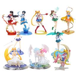 $enCountryForm.capitalKeyWord NZ - model toy 8'' 20cm super sailor moon figure toys anime Sailor mars Jupiter Venus 1 8 PVC Action Figure Collectible Model toys