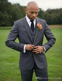 $enCountryForm.capitalKeyWord Australia - Custom Made Cheap Gray Men Suits For Wedding Slim Fit Groomsmen Tuxedos Three Pieces Custom Made Wedding Suit (Jacket+Pants+Vest)