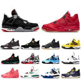 74d6d795c78fbc 4 Basketball Shoes Raptors Tattoo Hot Punch Travis Scott 4s Cactus Jack  Pure Money Pizzeria Black Cat Gum Men Sneakers Trainers Sports Shoes