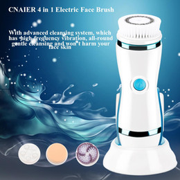$enCountryForm.capitalKeyWord Australia - New 4 in 1 Electric Cleansing Brush Face Massager Skin Care Tools with Replaceable Brush Mini Skin Face Care Tool