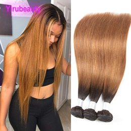 $enCountryForm.capitalKeyWord Australia - Brazilian Virgin Hair 1B 30 Ombre Human Hair Wefts 10-28inch 3 Bundles 1b 30 Hair Products Two Tones Color Yiruhair