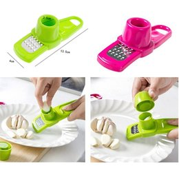 ginger cutter Canada - Ginger Garlic Grinding Tool Plastic Garlic Peeler Slicer Cutter Grater Planer Garlic Press Kitchen Cooking Gadgets Kitchen TOOL