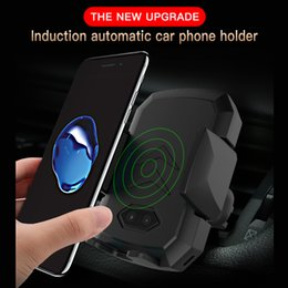 wirless iphone NZ - Automatic Induction QI Car Wireless Charger For iPhone Samsung Xiaomi Fast Wirless Charging Charger Car Phone Holder Air Vent