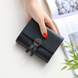 fashion passport holder 2019 - New Arrival 2017 Wallet Women PU Leather Small Wallet short Fashion Small Female Coin Purse Card Holder lady Casual Mone