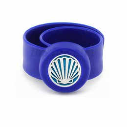 $enCountryForm.capitalKeyWord Australia - New arrival Kids Bangle Mosquito Repellent Bracelet Essential Oil Diffuser Bracelets Children Snap Silicone Bangles