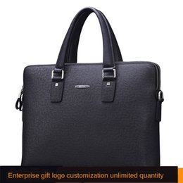 high end hand bags Australia - New Kangaroo Men's Hand Satchel briefcase leather satchel high-end gift horizontal cowhide Business Men's bag Hand bag