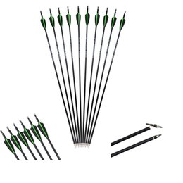 points for arrows Australia - Archery Carbon Fiber Arrows for Compound Recurve Bow Outdoor Practice Hunting and Shooting Accessories replaceable Arrow Point Tips
