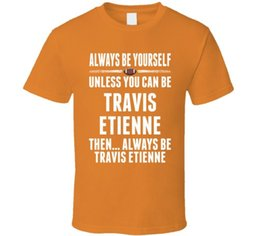 Free Cooling Fan Australia - Travis Etienne Be Yourself Alabama Football Cool Fan T Shirt Funny free shipping Unisex Casual Tshirt