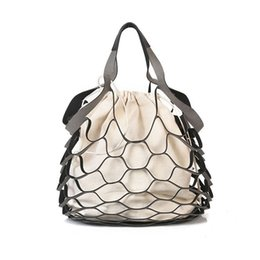 $enCountryForm.capitalKeyWord Australia - good quality Summer Bucket Bag Hand-woven Hollow Out Mesh Shoulder Handbag Shopping Bag Vintage Knitting Large Capacity Women Beach Bag