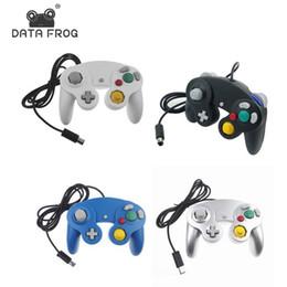 Опт DATA FROG Проводной Для Gamecube Ручной Джойстик Для Компьютера ПК Геймпад Wii Вибрация Gameing