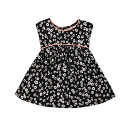 infant baby clothing UK - Cute Toddler Infants Baby Kids Flower Girls Dress Print Party Wedding Clothes Princess Gown Formal Dresses Sundress Clothings