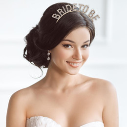 $enCountryForm.capitalKeyWord Australia - Wedding Hair Accessories Gold Teambride bridesmaid Bachelorette Party Bridal Shower Hen Party Tiara Crown Gifts Headwear