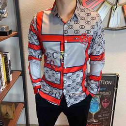 Wholesale men's v neck dress shirt for sale – oversize 2020 Summer Medusa Men s Shirt Dress Up New Men s Medusa Men s Shi s Long Sleeve Shirt