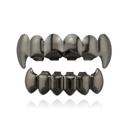 Teeth Fangs UK - One free shipping New Smooth Fangs Teeth Real Gold Plating Hip Hop Jewelry Gold Braces Explosive Braces