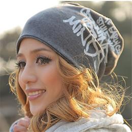 Scarfs Cotton Australia - Fashion Spring Autumn Winter Women Hat Scarf Letters Hip-Hop Women Beanies Hat Cotton Hedging Cap Men 2 Styles HO982967