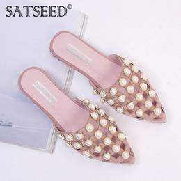 adf1f7f633ba Dress New Summer Female Shoe Women Non-slip String Bead Pointed Flip Flop  Sandal Platform Slipper Low Heels Pumps Ladies Shoe M8a09