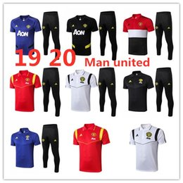 united new jersey NZ - 19 20 new Man united short sleeve tracksuit 2019 2020 pogba soccer shirt POGBA football polo jerseys JAMES RASHFORD MAGURIE training suit