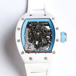 v5 watch Canada - V5 Upgraded version RM 055 Y-TZP all Ceramic Case Skeleton Dial Japan NH Mechanical RM055 Mens Watch Sapphire Rubber Band Designer Watches