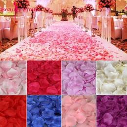 White Rose Petals Wholesale Australia - 2000pcs   Lot 5*5cm Silk For Decoration, Romantic Artificial Petals Wedding Rose Flower C19041701