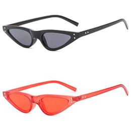 84e5c05276 Gafas de sol vintage mujer ojo de gato diseñador de la marca de lujo gafas  de sol retro pequeñas damas rojas gafas de sol gafas negras oculos