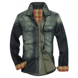 d7264c7f7f2 mens slim fit denim shirt 2019 - Men Shirt 2015 new Denim Shirt Mens Casual  Shirts