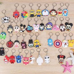 Cute keyChains for bags online shopping - Cute Cartoon Keychain Key Ring Gift For Women Girls Bag Pendant PVC Figure Charms Key Chains Jewelry porte clef