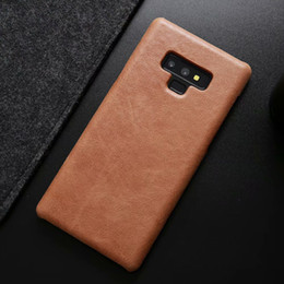 samsung note genuine leather NZ - Ckhb For Galaxy Note9 Vintage Style Genuine Leather Hard Back Cover For Galaxy S8 S9 Plus Note Luxury Leather Phones Case T190710