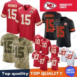 d1ff61b7b Kansas City 15 Patrick Mahomes 10 Tyreek Hill Chief jersey 14 Sammy Watkins  58 Derrick Thomas 27 Kareem Hunt 50 Houston 87 Travis Kelce