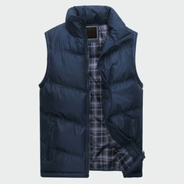 Cotton Windbreakers Australia - Men's Sleeveless Jacket New Fashion Thicken Cotton Vest Autumn Warm Vest Winter Male Waistcoats Men Casual Windbreakers Ml085