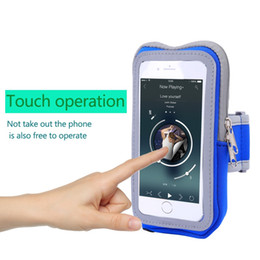Discount cell phone accessories wholesalers - New Touch Screen Cell Phone Arms Package Running Bags Men Women For Iphone 5s 6 6s Plus Sports Equipment Run Bag Accesso