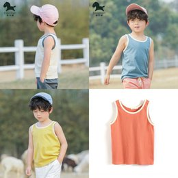 western fashion shirts UK - Isina men's pure Top Vest vest cotton 2020 summer clothes baby sleeveless T-shirt Western style children's thin top fashion