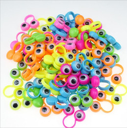 wholesale puppets sale Australia - Children Novelty Toy Multi Color Eye Finger Puppets Plastic Rings With Wiggle Eyes Hot Sale party finger Toy Kids Fidget Relief Toys EZYQ518