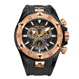 Discount watches tigers - Reef Tiger RT Men Sports Watches Quartz Watch with Chronograph and Date Big Dial Black Steel Super Luminous Stop Watch R