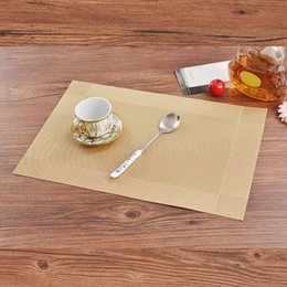 $enCountryForm.capitalKeyWord Australia - Placemat For Dining Table Non-Slip Kitchen Table Mats PVC Dining Room Weave Placemats Heat Insulation Place Mats K709