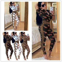 9cef47e3600a7 Womens short sleeve summer jackets online shopping - Womens Letter Printed  Two Piece Tracksuit F Letters