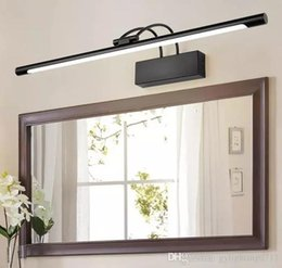 14 mirror UK - Ac110 -240v L45  55  65  75cm Led Front Mirror Lamp Black Metal Body Acrylic 9  12  14  16w Led Bathroom Toilet Wall Lighting Fixture Llfa