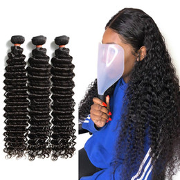 permed curly hair NZ - Wigirl Brazilian Hair Weave Bundles Deep Wave 100% Human Hair 24 Inch Curly Double Drawn Raw Virgin Hair Extension Vendors